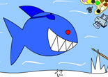 coloriage, requin, squale, animaux