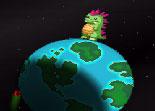 dinosaure, terre, météorites