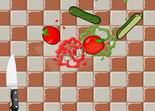 fruit ninja, adresse, réflexe, légume
