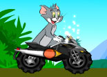 Tom Et Jerry, moto, bécane, cartoon, cross