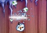 Fruit Ninja, bonhommes de neige, réflexe, adresse