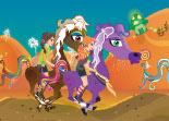 animaux, poney, équitation, course équestre