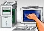 Casse, défoulement, ordinateur