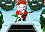guitare, musique, Père Noël