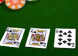 poker, texas hold'em, cartes, réflexion