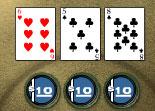 réflexion, poker, cartes