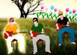 guitare, observation, mémoire, musique