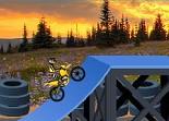 moto cross, bécane, 2 roues, cascade en moto