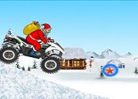 Noël, quad, moto à 4 roues, Santa, Père Noël, ATV