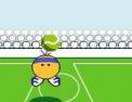 balle, foot, football, ballon, jongle, tête, rebonds, tennis, canon