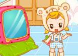 baby sitter, nounou, décoration, fille, aménagement