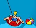 bateau, pilotage, conduite, bouée, bouée de traction, hors bord