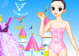 princesse, habillage, beauté, fille, dress up