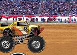 monster truck, cascade, saut, voiture, tout terrain