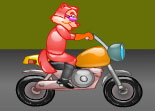 moto, bécane, 2 roues, écureuil