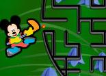 Disney, Mickey, Bugs Bunny, labyrinthe, observation