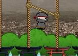 ninja, reflexion, corde