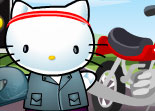 Hello Kitty, relooking, habillage, moto, chatte