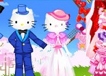 Hello Kitty, mariage, habillage, chatte, wedding, dress up