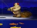 Pêche, poisson, canne à pêche, ours polaire, pêcheur