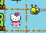 hello kitty, abeille, jardin
