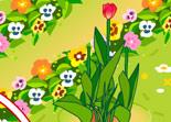 jardin, jardinage, fleurs, fille, Sue