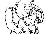 Coloriage Shrek  Et Fiona