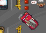 parking, camion, stationnement, pompier, créneau, poids lourd, soldat du feu