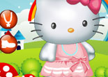 habillage, Hello Kitty, dress up, fille, chatte
