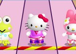 Hello Kitty, roller, course, sport, patins à roulettes