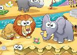objets cachés, zoo, observation, chiffres cachés, animaux, numéros
