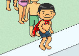 natation, école, piscine, plongeon