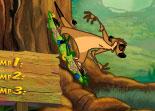 Roi Lion, Timon, saut, Pumbaa, sport