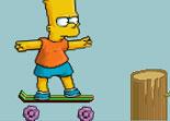 Simpson, skateboard, sport, Bart, planche à roulette