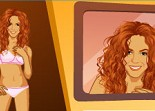 Shakira, mode, habillage, dress up, fille, star, fashion