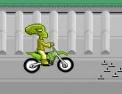 conduite, pilotage, course, course en ville, moto, bike, bombe, poulet, alien, punk