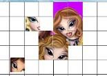 Bratz, puzzle, fille, observation