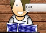 poker, cartes, réflexion, casino