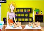 bébé, jumelles, nounou, nourrice, chérubin, baby sitting