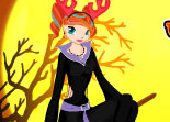Halloween, déguisement, Winx, habillage, sorcière, dress up, fille, fée