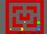 Pacman, labyrinthe, arcade, fantôme, pac-gomme