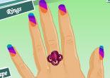 ongles, beauté, nails, fille, manucure