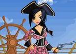 habillage, dress up, fille, pirate