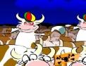 vaches, ferme, réflexes, rapidité