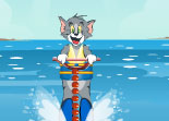 Tom et Jerry, cartoon, ski nautique, sport