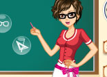 maîtresse, habillage, enseignante, dress up, fille, école