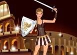 gladiateur, habillage, fille, dress up