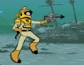 tir, tireur, tirer, action, arme, sous marin, némo, poisson, profondeur, calamar géant