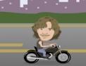moto, musique, poursuite