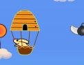pilote, ballon dirigeable, animaux, lapin, abeille